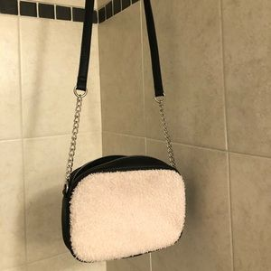 harlow sherpa and faux leather purse!